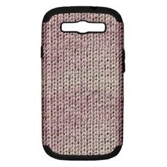 Knitted Wool Pink Light Samsung Galaxy S Iii Hardshell Case (pc+silicone)