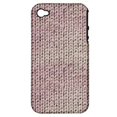 Knitted Wool Pink Light Apple Iphone 4/4s Hardshell Case (pc+silicone)