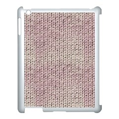 Knitted Wool Pink Light Apple Ipad 3/4 Case (white)