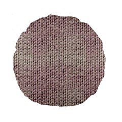 Knitted Wool Pink Light Standard 15  Premium Round Cushions