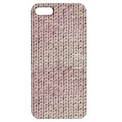 Knitted Wool Pink Light Apple Iphone 5 Hardshell Case With Stand