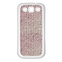 Knitted Wool Pink Light Samsung Galaxy S3 Back Case (white)