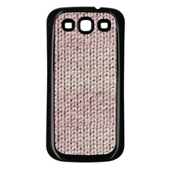 Knitted Wool Pink Light Samsung Galaxy S3 Back Case (black)