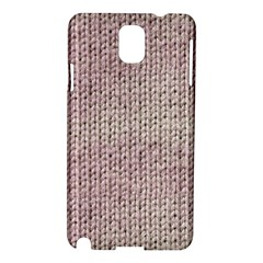 Knitted Wool Pink Light Samsung Galaxy Note 3 N9005 Hardshell Case