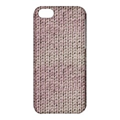 Knitted Wool Pink Light Apple Iphone 5c Hardshell Case