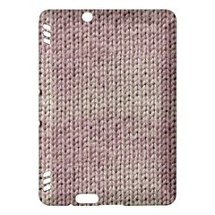 Knitted Wool Pink Light Kindle Fire Hdx Hardshell Case