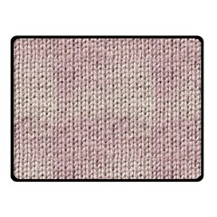 Knitted Wool Pink Light Double Sided Fleece Blanket (small)