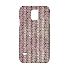 Knitted Wool Pink Light Samsung Galaxy S5 Hardshell Case