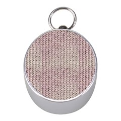 Knitted Wool Pink Light Mini Silver Compasses