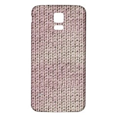 Knitted Wool Pink Light Samsung Galaxy S5 Back Case (white)