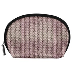 Knitted Wool Pink Light Accessory Pouches (large)