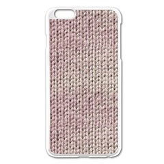 Knitted Wool Pink Light Apple Iphone 6 Plus/6s Plus Enamel White Case