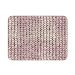 Knitted Wool Pink Light Double Sided Flano Blanket (mini)