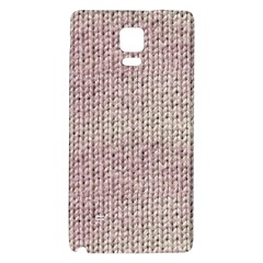 Knitted Wool Pink Light Galaxy Note 4 Back Case