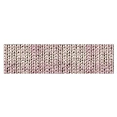 Knitted Wool Pink Light Satin Scarf (oblong)