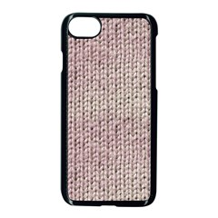 Knitted Wool Pink Light Apple Iphone 7 Seamless Case (black)