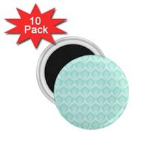 Damask Aqua Green 1 75  Magnets (10 Pack)