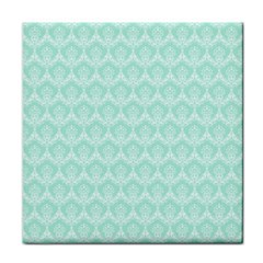 Damask Aqua Green Face Towel