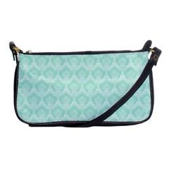 Damask Aqua Green Shoulder Clutch Bags