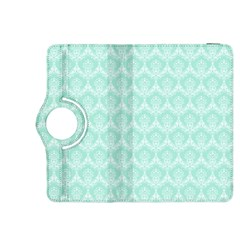 Damask Aqua Green Kindle Fire Hdx 8 9  Flip 360 Case