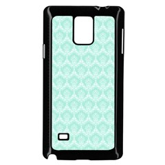 Damask Aqua Green Samsung Galaxy Note 4 Case (black)