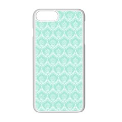 Damask Aqua Green Apple Iphone 7 Plus Seamless Case (white)