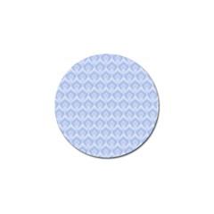 Damask Light Blue Golf Ball Marker