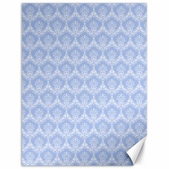 Damask Light Blue Canvas 18  X 24