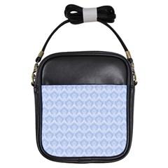 Damask Light Blue Girls Sling Bags