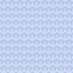 Damask Light Blue Magic Photo Cubes