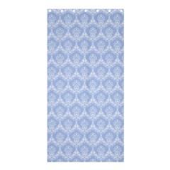 Damask Light Blue Shower Curtain 36  X 72  (stall)
