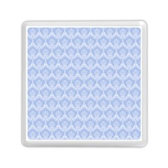 Damask Light Blue Memory Card Reader (square)