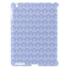 Damask Light Blue Apple Ipad 3/4 Hardshell Case (compatible With Smart Cover)
