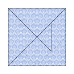 Damask Light Blue Acrylic Tangram Puzzle (6  X 6 )