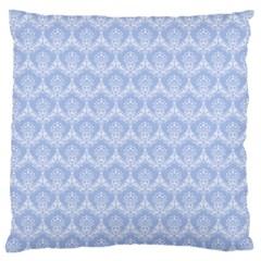 Damask Light Blue Large Cushion Case (two Sides)