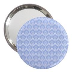 Damask Light Blue 3  Handbag Mirrors