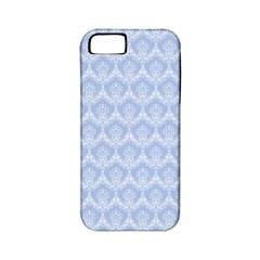 Damask Light Blue Apple Iphone 5 Classic Hardshell Case (pc+silicone)