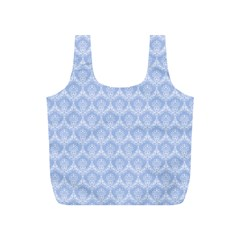 Damask Light Blue Full Print Recycle Bags (s)