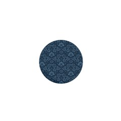Damask Blue 1  Mini Buttons