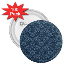 Damask Blue 2 25  Buttons (100 Pack)