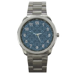 Damask Blue Sport Metal Watch