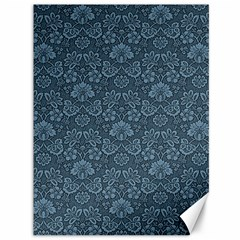 Damask Blue Canvas 36  X 48