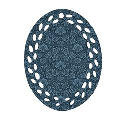 Damask Blue Ornament (oval Filigree)