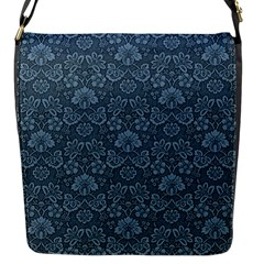 Damask Blue Flap Messenger Bag (s)