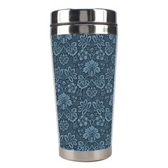 Damask Blue Stainless Steel Travel Tumblers