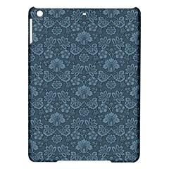 Damask Blue Ipad Air Hardshell Cases