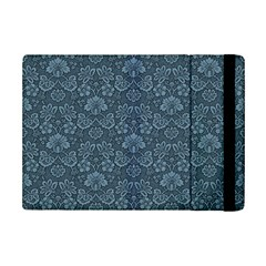 Damask Blue Ipad Mini 2 Flip Cases