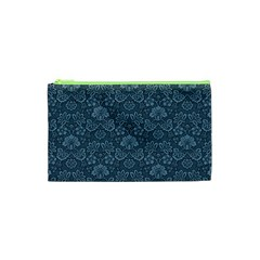 Damask Blue Cosmetic Bag (xs)