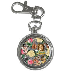 Damask Religious Victorian Grey Key Chain Watches