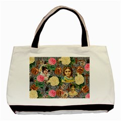 Damask Religious Victorian Grey Basic Tote Bag (two Sides)